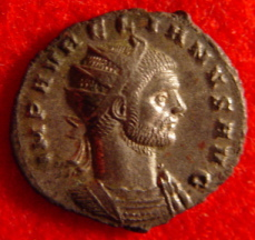 Aurelian on coin