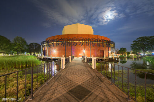Texas-State-University-Theatre-Center-at-Night