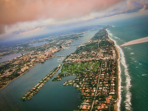West-palm-beach-arial-photo-from-sky-with-clouds