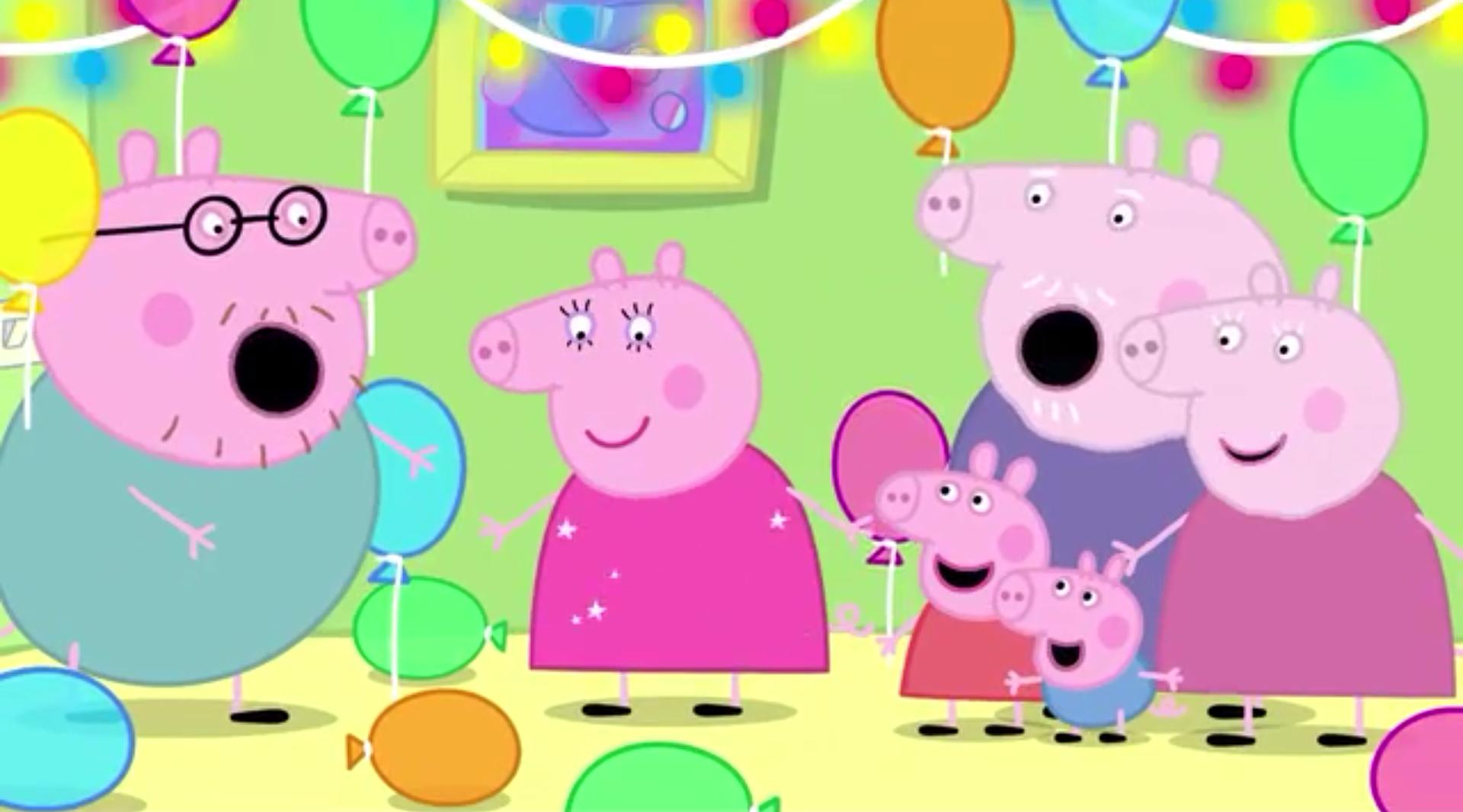 Peppa Pig Birthday Cake Png