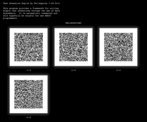 Text Adventure Engine QR Codes