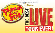 Phineas and Ferb Live! Banner