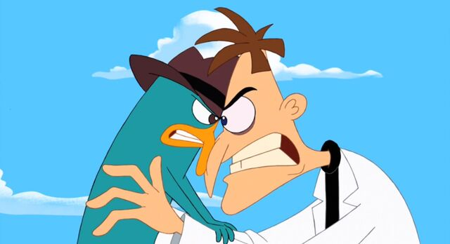 File:Perry and Doofenshmirtz - Head to head.jpg