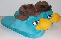 Agent P adult plush slippers