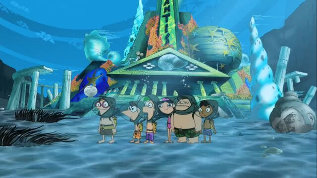 File:Posing for a picture in front of Atlantis.JPG