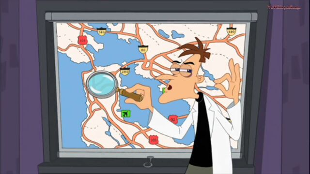 File:Doof next to a road map.jpg