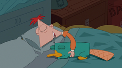 Phineas sleeping with Perry.png