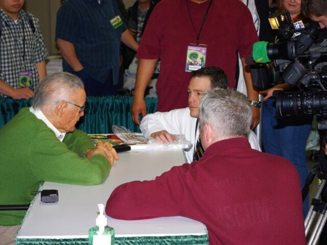 File:Stan Lee Interviewing - Emerald City Comicon 2010.jpg