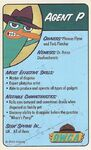 Agent P card - front side