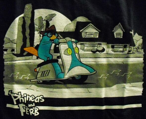 File:Disguised Agent P on his scooter t-shirt.jpg