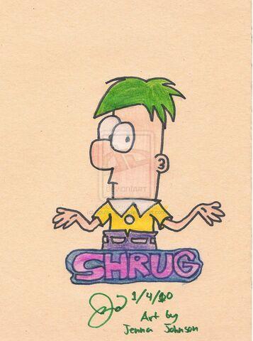 File:Ferb shrugs... Random Doodle, by Agufanatic98.jpg