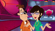 Doof and Charlene inside the Charlene's No Longer Married To Doofenshmirtz Penthouse
