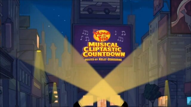 File:Phineas and Ferb Musical Cliptastic Countdown Hosted by Kelly Osbourne title card.jpg