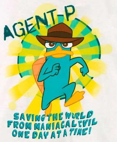 File:Agent P - Saving the world from maniacal evil one day at a time t-shirt.jpg