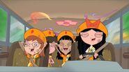 Fireside Girls celebrating