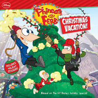 Phineas and Ferb Christmas Vacation 8x8 front cover