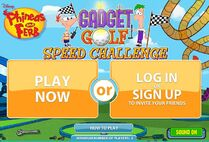 Multiplayer Gadger Golf menu