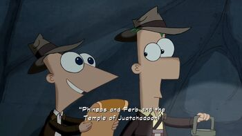 Phineas and Ferb and the Temple of Juatchadoon title card