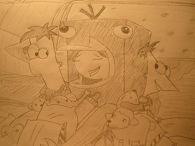 File:Candace hugs her brothers - fan art.jpg