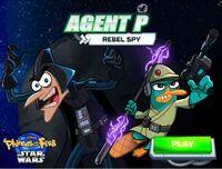 Agent P Rebel Spy menu card