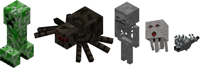 File:Minecraft Monster Group.png