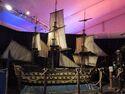 HMS endeavour Pirates filming model