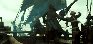 Barboss Fighting Mercer AWE