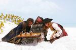 James Norrington, Elizabeth Swann and Jack Sparrow
