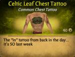 Celtic Leaf Chest Tattoo (2)