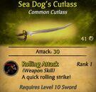Sea Dog's Cutlass