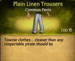 Plain Linen Trousers