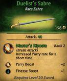 Duelist's Sabre