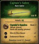 Captain's Sabre