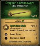 Dragoons Broadsword 2010-11-23