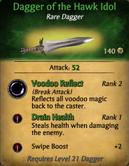 Dagger of the Hawk Idol - clearer