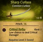 Sharp Cutlass