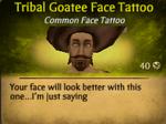 Tribal Goatee Face Tattoo