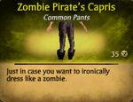 Pirate zombie capris female
