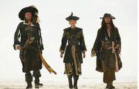 Jack Sparrow, Hector Barbossa, And Elizabeth Swann