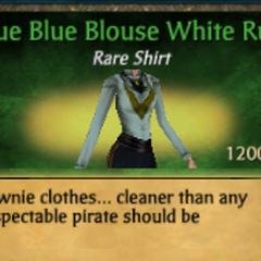 Blue Blue Blouse White Ruff