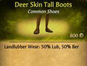 Deer Skin Tall Boots