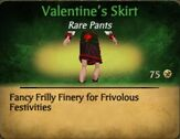 F Valentine's Day Skirt