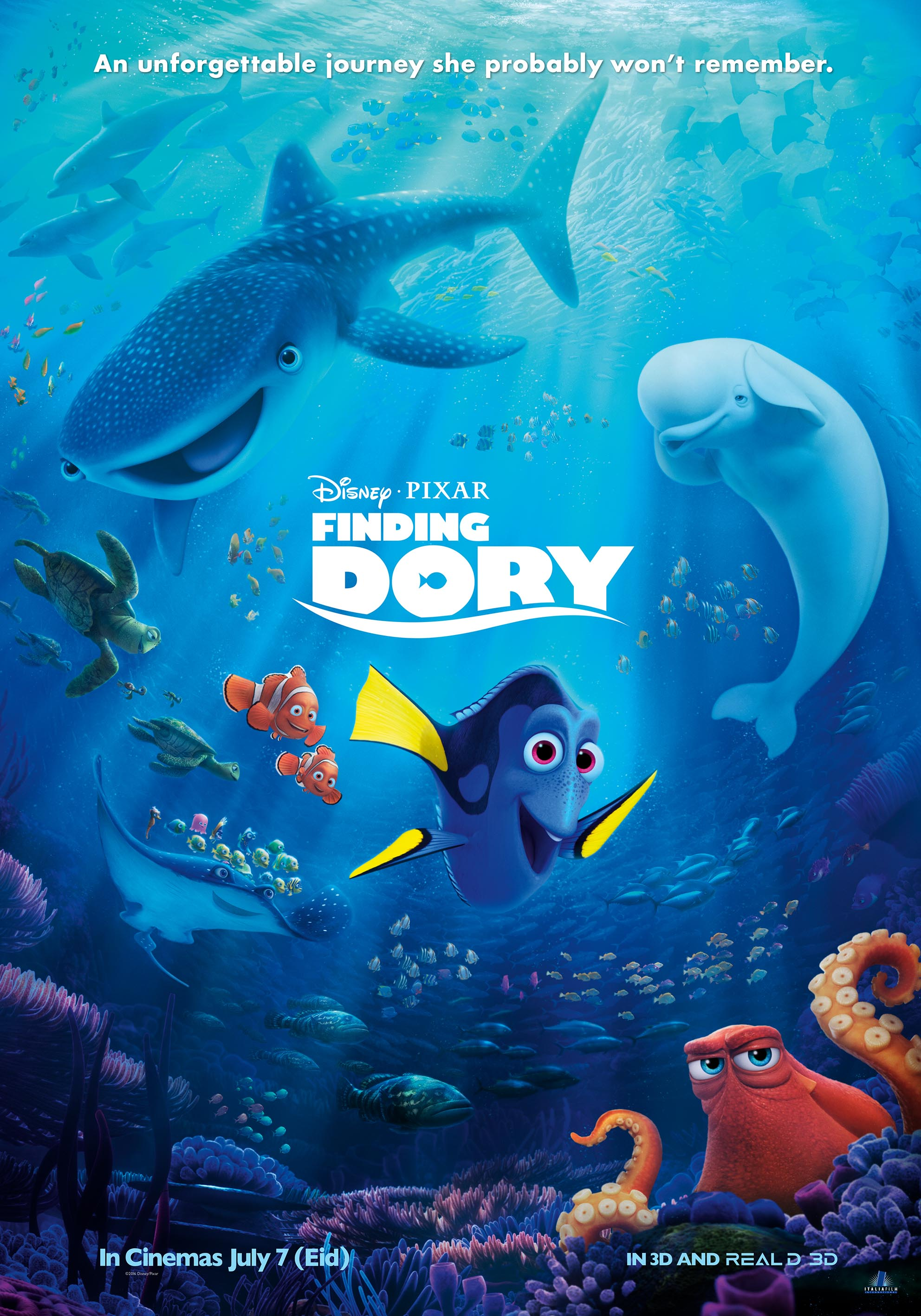 Finding Dory (2016) HDTS x264 E-Subs [Dual-Audio] [English + Hindi] – NicK 733Mb