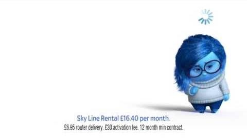 Sky Fibre advert featuring Sadness from Inside Out