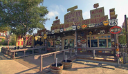 Radiator springs curios cars land gift shop