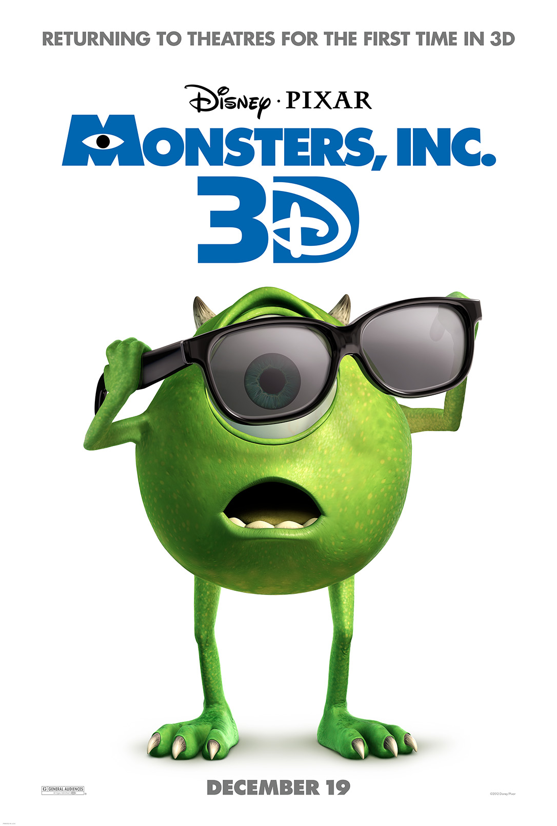 Monsters Inc. in 3D 2001 Full Length Movie