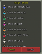 Known Potions