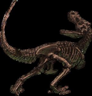 Fossile Tyrunt realistico