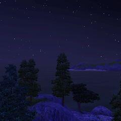Nocą niebo w Sunset Valley jest usiane gwiazdami.