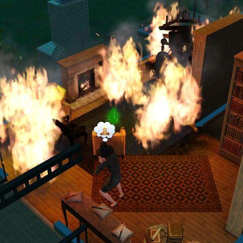 Pożar wzniecony czarem